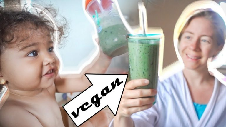 VEGAN GREEN SMOOTHIE RECIPE (Kid Friendly) & TODDLER JUMPS IN THE RIVER