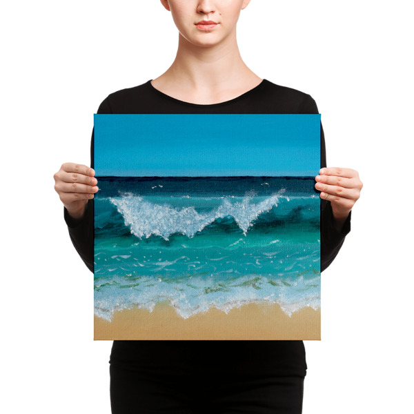 Seascape on Canvas Print by S a c h a