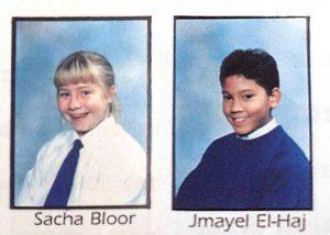 Sacha & J when we first met