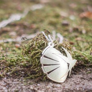 Silver Swallow Bird Pendant Necklace (Andorinha Sun Edition) | 925 Solid Sterling Silver