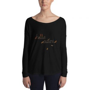Hello Autumn Ladies' Long Sleeve Tee